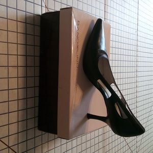 10m bandolino estellas black leather high heel